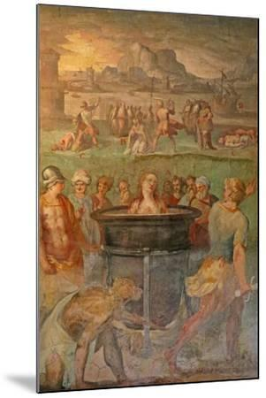 A Female Saint Is Boiled Alive--Mounted Giclee Print