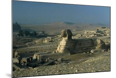 Egypt, Cairo, Giza, Great Sphinx--Mounted Giclee Print