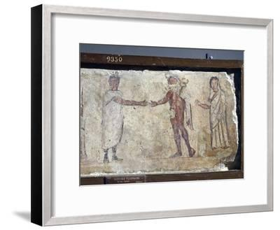 Ancient Roman Fresco Representing Funeral Procession: with Hermes Paying Caronte--Framed Giclee Print