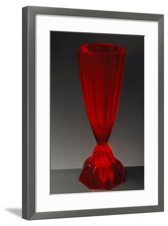 Art Deco Uncut Red Crystal Glasses with Hollow Stems, Ca 1925--Framed Giclee Print