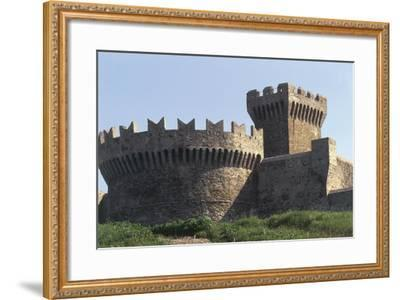 Italy, Tuscany Region, Maremma, Fortress of Populonia--Framed Giclee Print