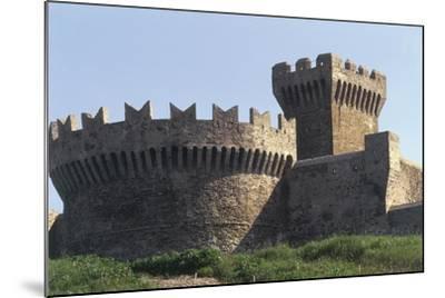 Italy, Tuscany Region, Maremma, Fortress of Populonia--Mounted Giclee Print