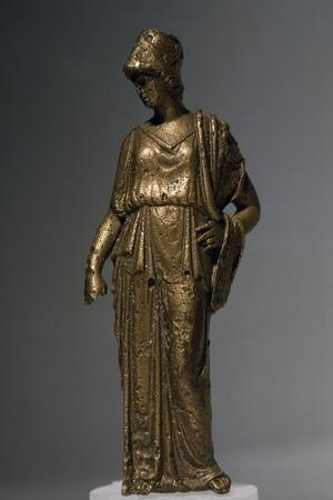 Bronze Statuette of Goddess Athena, Copy of Work by Myron, Artefact Uncovered in Mestica, Bulgaria--Framed Giclee Print