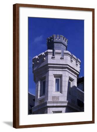 Spain, Cantabria, Santander, Magdalena Royal Palace, Tower--Framed Giclee Print
