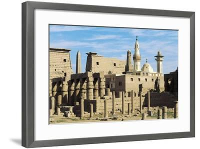 Egypt, Ancient Thebes Luxor, Temple of Amon, Ruins and Pylon of Ramses II in Background--Framed Giclee Print