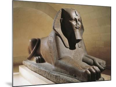 Great Sphinx of Tanis, Pink Granite--Mounted Giclee Print