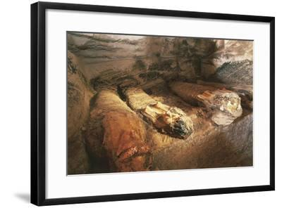 Egypt, Bahariya Oasis, Valley of the Golden Mummies. Detail of Mummy of Tomb Nr. 54--Framed Giclee Print