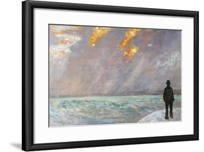 Italy, Florence, Sunset on the Sea, 1890-1895--Framed Giclee Print