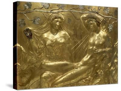 Gilded Bronze Cinerary Krater, from Derveni, Greece, Detail BC, Ancient Greece--Stretched Canvas Print