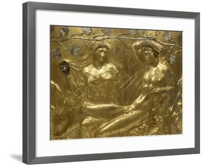 Gilded Bronze Cinerary Krater, from Derveni, Greece, Detail BC, Ancient Greece--Framed Giclee Print