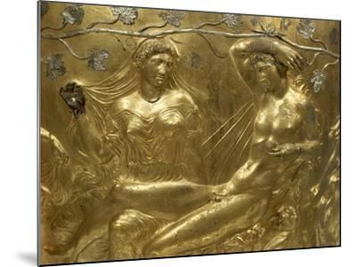 Gilded Bronze Cinerary Krater, from Derveni, Greece, Detail BC, Ancient Greece--Mounted Giclee Print