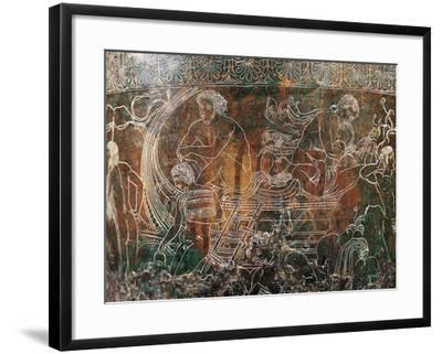 Ficoroni Cista, Detail of Argos's Ship--Framed Giclee Print