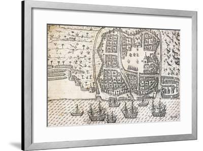 City of Bantam on Island of Java, Indonesia--Framed Giclee Print