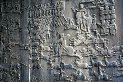 Bas-Reliefs with Scenes of Deer and Wild Boar Hunting in Caves of Taq-E Bustan, Iran--Giclee Print