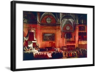 Marriage of Elizabeth Farnese and Philip V of Spain, Parma, Italy, 1714--Framed Giclee Print