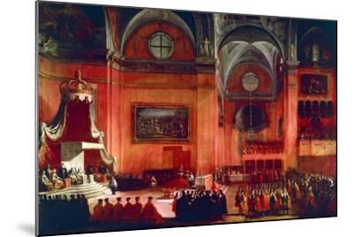 Marriage of Elizabeth Farnese and Philip V of Spain, Parma, Italy, 1714--Mounted Giclee Print