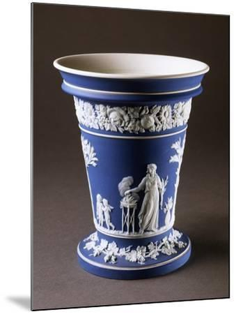 Vase, Circa 1780, Blue and White Stoneware, Wedgwood Manufacture, Staffordshire, England--Mounted Giclee Print