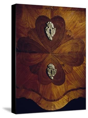 Louis XV Style Trumeau Cabinet in Tulipwood, Kingwood and Rosewood, 1760--Stretched Canvas Print