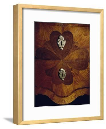 Louis XV Style Trumeau Cabinet in Tulipwood, Kingwood and Rosewood, 1760--Framed Giclee Print