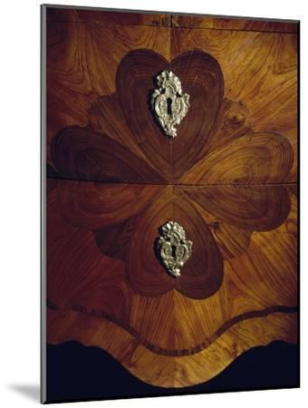 Louis XV Style Trumeau Cabinet in Tulipwood, Kingwood and Rosewood, 1760--Mounted Giclee Print