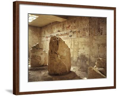 Egypt, Ancient Thebes, Luxor, Valley of Nobles, Tomb of Ramose Depicting Funeral Procession--Framed Giclee Print