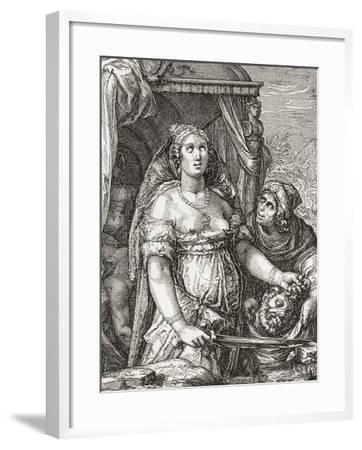 Judith Beheading the Assyrian General Holofernes--Framed Giclee Print