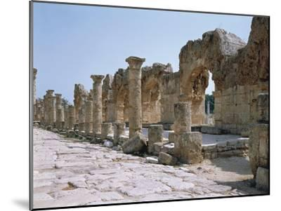 Lebanon, Tyre, Ruins of Old City of Tyre, Roman Street with Portico--Mounted Giclee Print