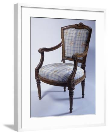 Louis XVI Style Carved Wood Genoese Armchair, Italy--Framed Giclee Print