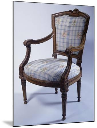 Louis XVI Style Carved Wood Genoese Armchair, Italy--Mounted Giclee Print