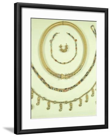 Necklaces, Pendants and Bracelets from Princess's Tomb in Susa or Shush, Iran--Framed Giclee Print