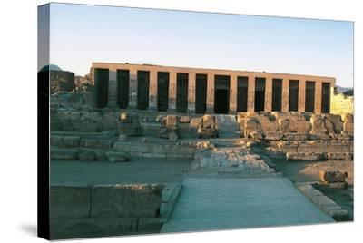 Egypt, Abydos, Temple of Pharaoh Seti I, New Kingdom--Stretched Canvas Print