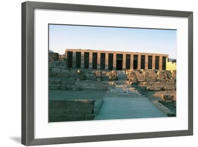 Egypt, Abydos, Temple of Pharaoh Seti I, New Kingdom--Framed Giclee Print