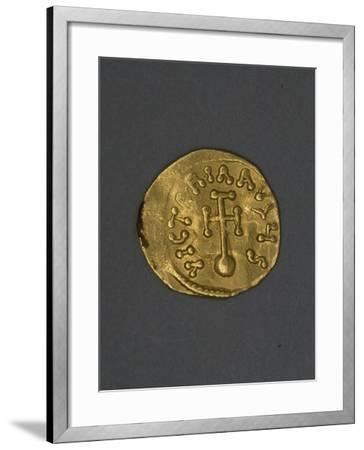 Gold Solidus, Verso, Byzantine Coins, 6th Century--Framed Giclee Print