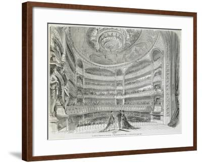 France, Paris, Theatre Du Vaudeville, Theatre House, View from Stage--Framed Giclee Print