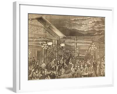 Concert at Volksgarten in Vienna, Austria19th Century Engraving--Framed Giclee Print