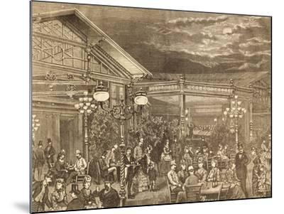 Concert at Volksgarten in Vienna, Austria19th Century Engraving--Mounted Giclee Print