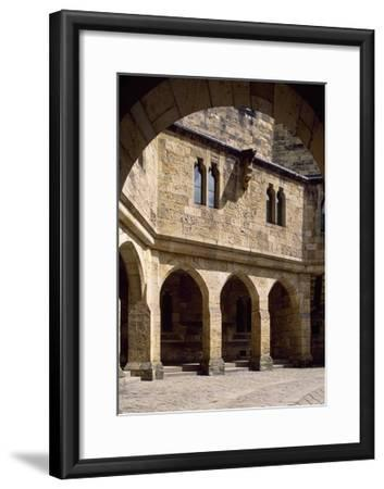 View of Alnwick Castle Courtyard, Northumberland, England--Framed Giclee Print