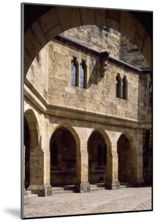 View of Alnwick Castle Courtyard, Northumberland, England--Mounted Giclee Print