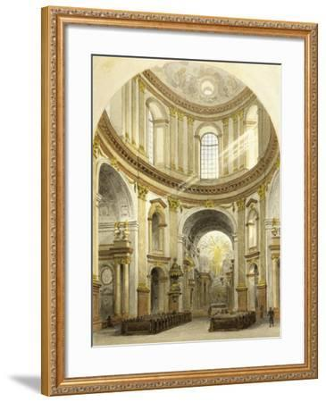 Interior of St. Charles' Church in Vienna, Austria--Framed Giclee Print