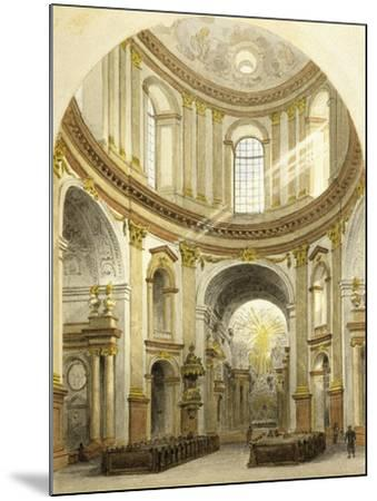Interior of St. Charles' Church in Vienna, Austria--Mounted Giclee Print