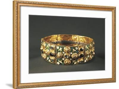 Iron Crown, 9th Century, Goldsmith's Art, Longobard Civilization--Framed Giclee Print