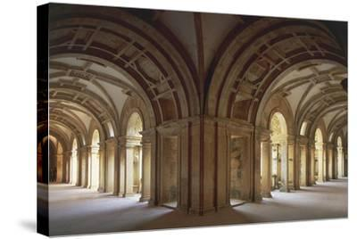 Portugal, Tomar, Cloister at Convent of Christ, UNESCO World Heritage List, 1983--Stretched Canvas Print