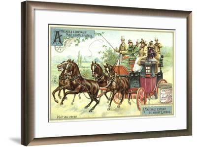 English Mail Coach--Framed Giclee Print