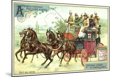 English Mail Coach--Mounted Giclee Print