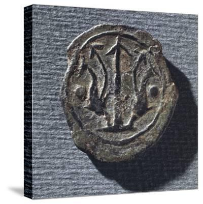 Coin from Vetulonia--Stretched Canvas Print
