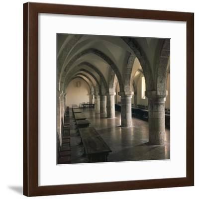 View of Refectory of Cistercian Casamari Abbey--Framed Giclee Print