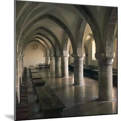 View of Refectory of Cistercian Casamari Abbey--Mounted Giclee Print