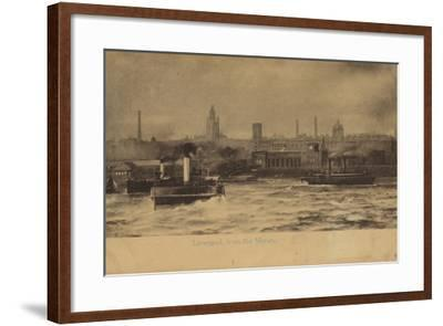 Liverpool, from the Mersey-English Photographer-Framed Photographic Print