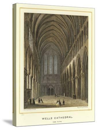 Wells Cathedral, the Nave-Hablot Knight Browne-Stretched Canvas Print