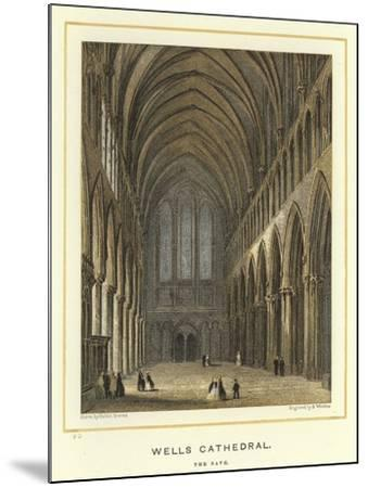 Wells Cathedral, the Nave-Hablot Knight Browne-Mounted Giclee Print
